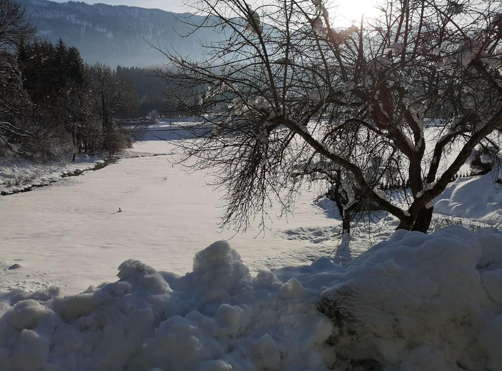 Stilvolles Wohnen im Gailtal Winterlandschaft